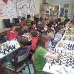un concours d'échecs à l'école sainte thérèse